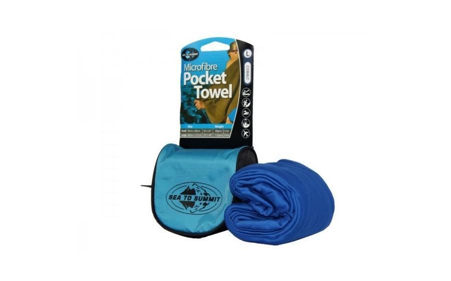 Полотенце туристическое Sea to Summit POCKET TOWEL cobalt blue 5