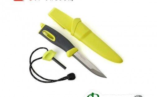 Нож фиксед с огнивом Light my fire FIREKNIFE pin-pack lime
