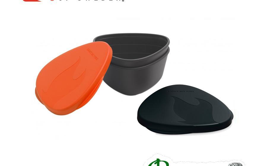 Набор походных контейнеров Light my fire SNAPBOX 2-pack orange/b