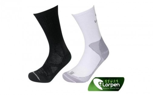 Трекинговые носки Lorpen WARM WEATHER SOCK SYSTEM 2-pack black/w