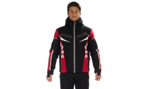 Мужская лыжная курткаHyra ST. MORITZ black-red