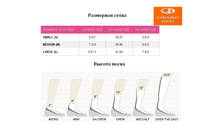 Носки женские Icebreaker HIKE LIGHT CREW WMN monsoon