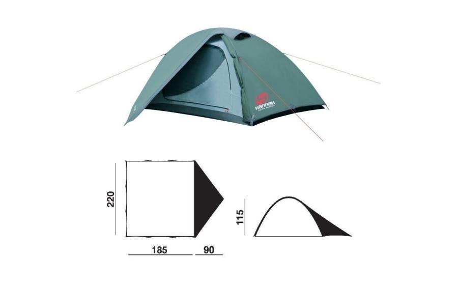 Палатка двухместная Hannah SERAK размеры