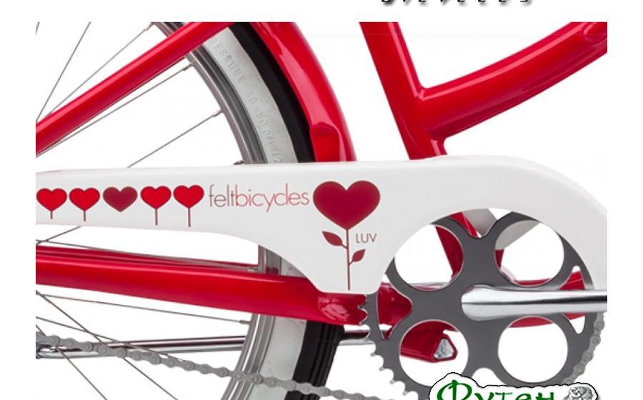 Велосипед круизер женский FELT CRUISER LUV вблизи