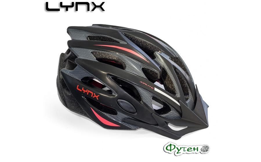 Велошлем Lynx LES GETS matt black/red