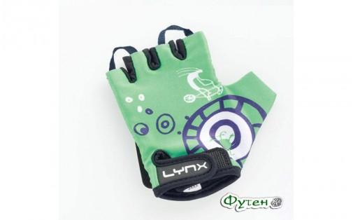 Велосипедные перчатки детские Lynx KIDS green