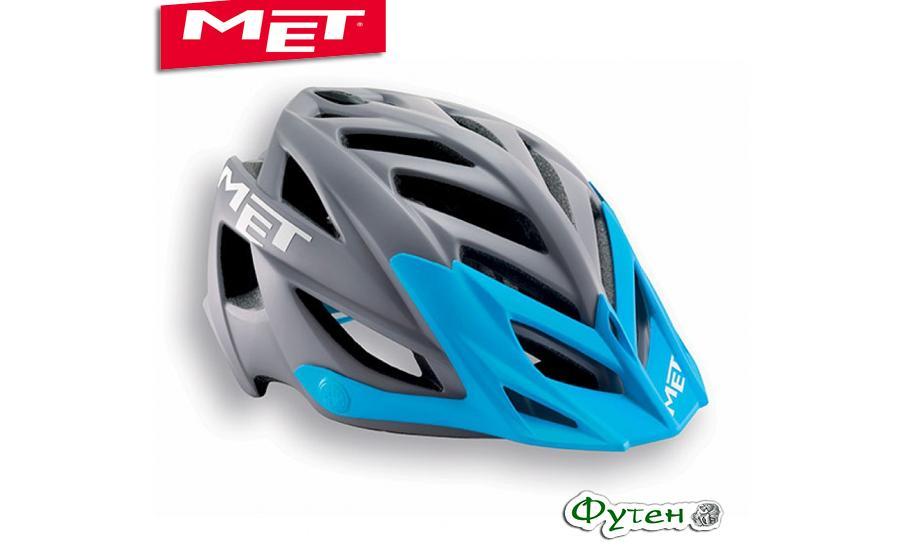 Шлем велосипедный Met TERRA matt gray/cyan