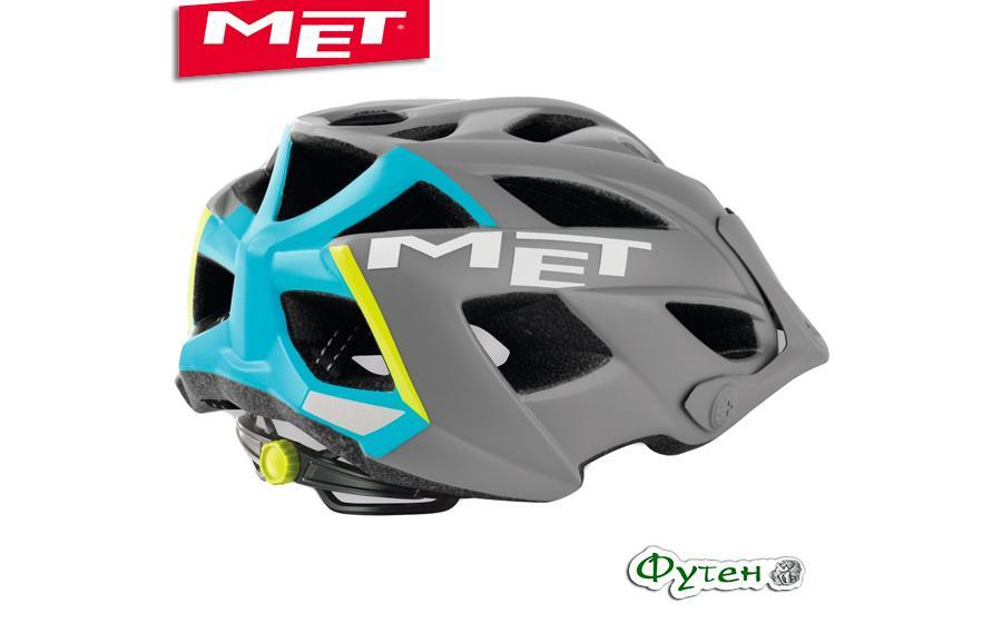 Шлем Met TERRA matt gray/cyan