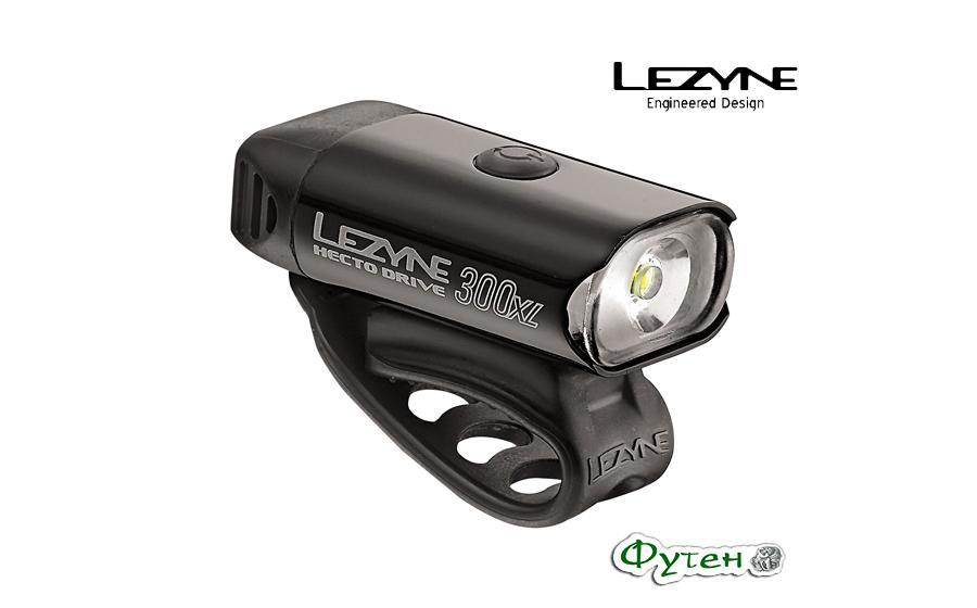 Велосипедный фонарь Lezyne HECTO DRIVE 300 XLчёрный