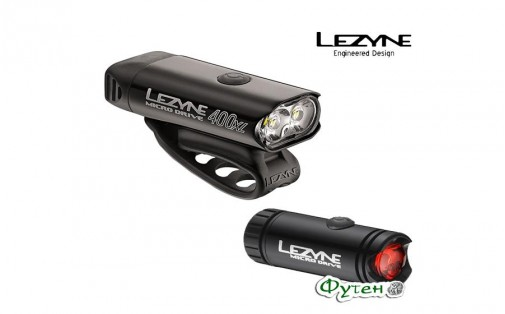 Набор Lezyne MICRO DRIVE 400XL + REAR LED MICRO DRIVE