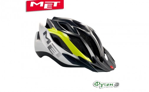 Шлем велосипедный Met CROSSOVER lime green/silver/black