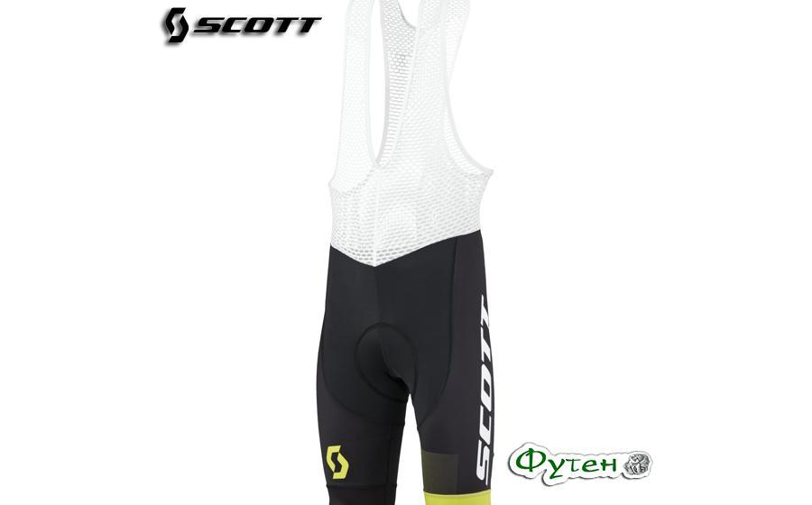 Велотрусы мужские SCOTT RC PRO +++ черный/желтый