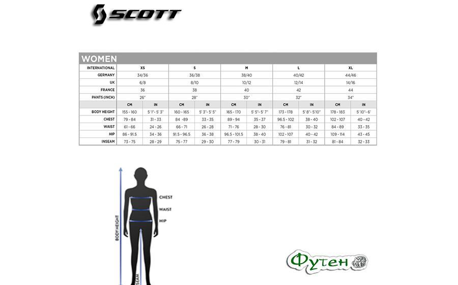Велоштаны женские SCOTT W RC PRO AS 10 размеры