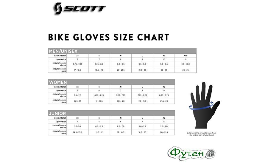 Велосипедные перчатки SCOTT ENDURANCE SF  размеры