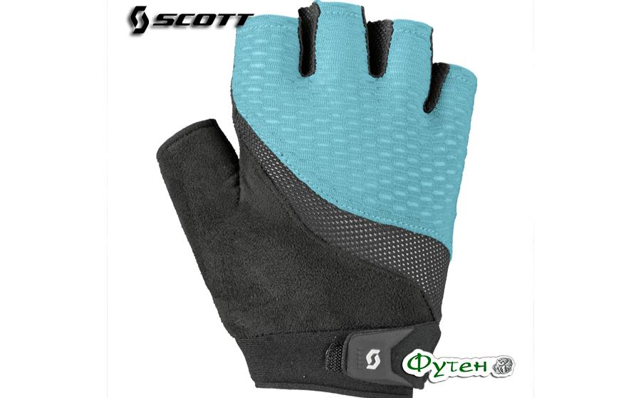 Велоперчатки SCOTT W ESSENTIAL WOMENS SF голубые