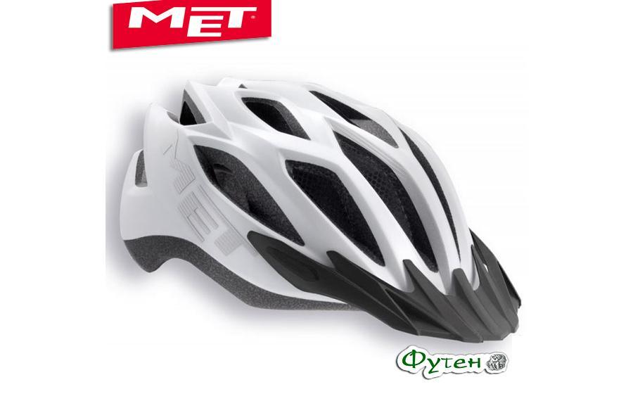 Шлем велосипедный Met CROSSOVER  matt white (reflective stickers