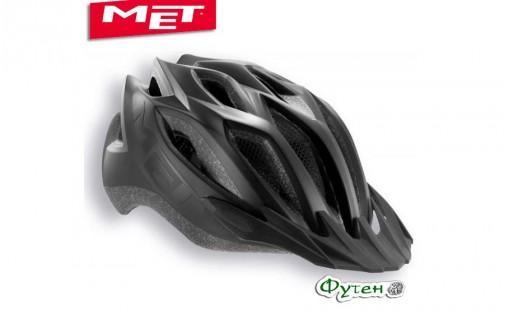 Шлем велосипедный Met CROSSOVER matt black (reflective stickers)