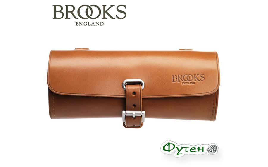 Велосумка кожанная BROOKS Challenge Tool Bag Honey