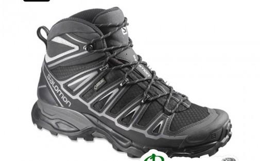 Ботинки мужские Salomon X ULTRA MID 2 GTX black/black/alu