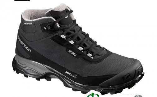 Ботинки мужские Salomon SHELTER SPIKES CS WP black/black/ptr