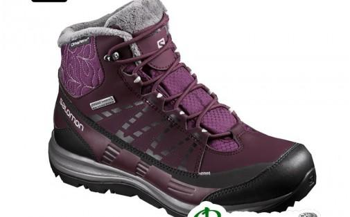 Ботинки женские утеплённые Salomon KAINA CS WP 2 bord/purple bla