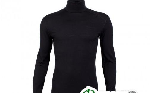 Термобелье мужское блуза Icebreaker OASIS LS TURTLENECK MEN blac
