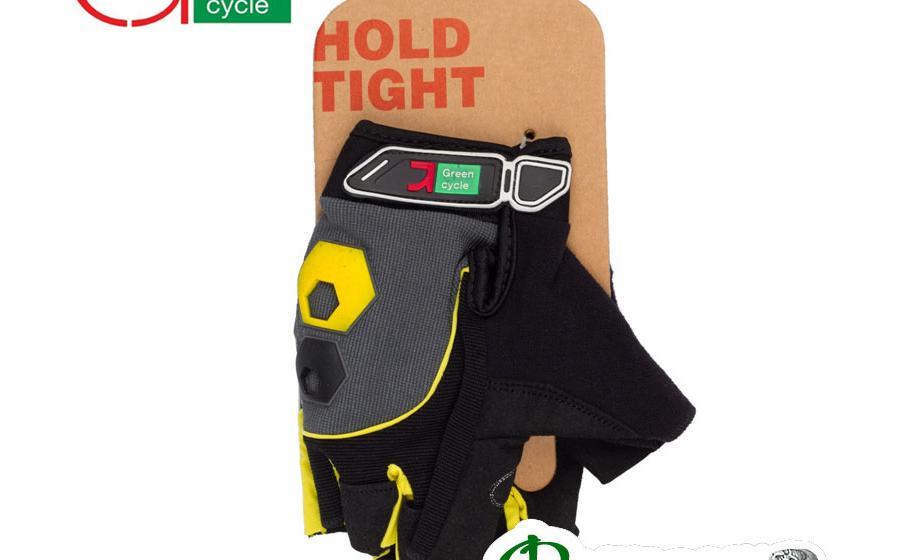 Велоперчатки мужские Green Cycle MTB Gel черно-желтые
