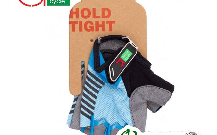 Велоперчатки женские Green Cycle MTB сине-голубые