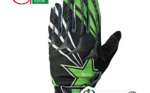 Велоперчатки мужские Green Cycle MTB с закрытыми пальцами черно-