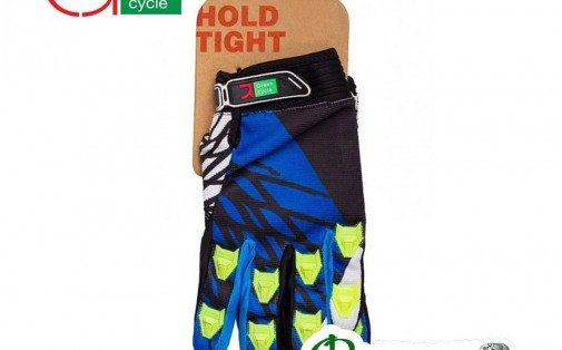 Велоперчатки мужские Green Cycle MTB с закрытыми пальцами сине-б
