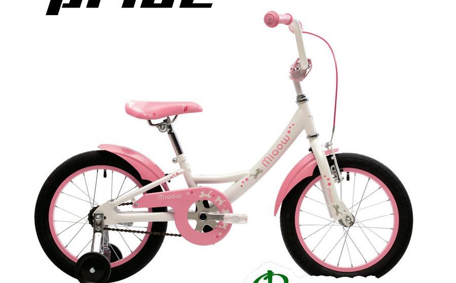 Велосипед детский PRIDE 16 MIAOW белый/розовый