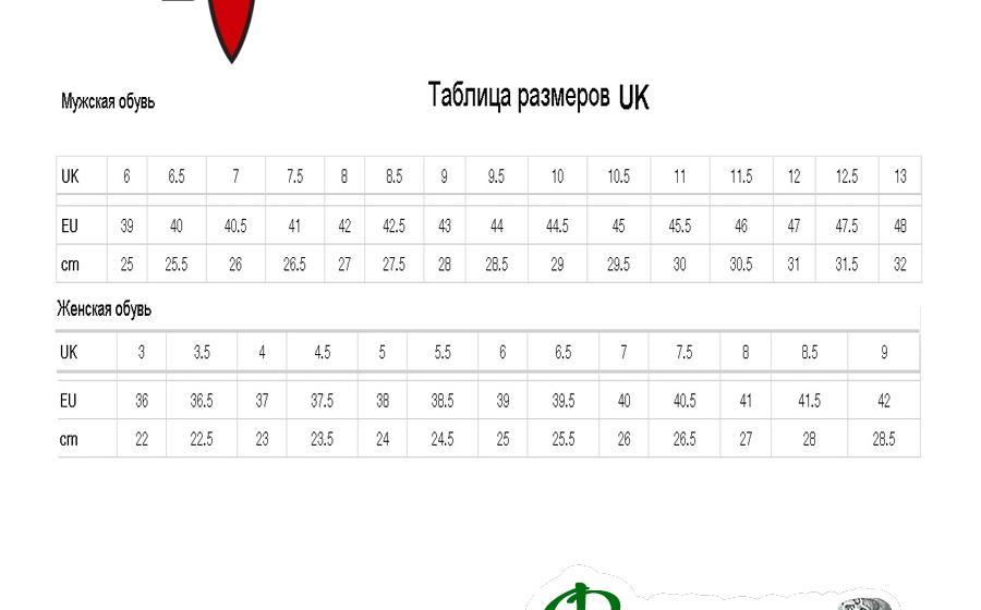 Размеры Ботинки треккинговые Kayland TROTTER GTX