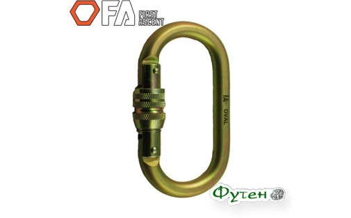 Стальной карабин First Ascent FA OVAL