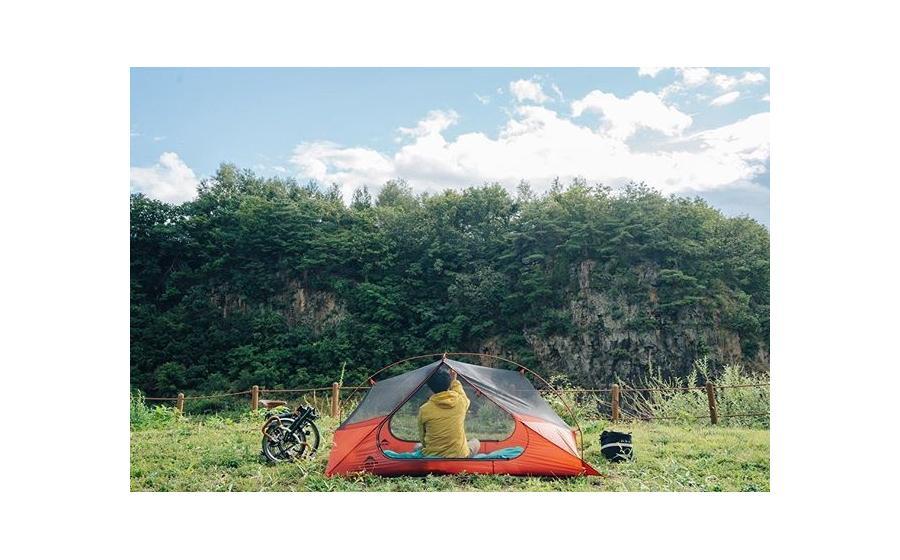 Палатка в походе MSR FREELITE 2 TENT green