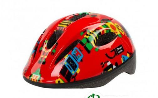 Шлем детский Green Cycle ROBOTS красный