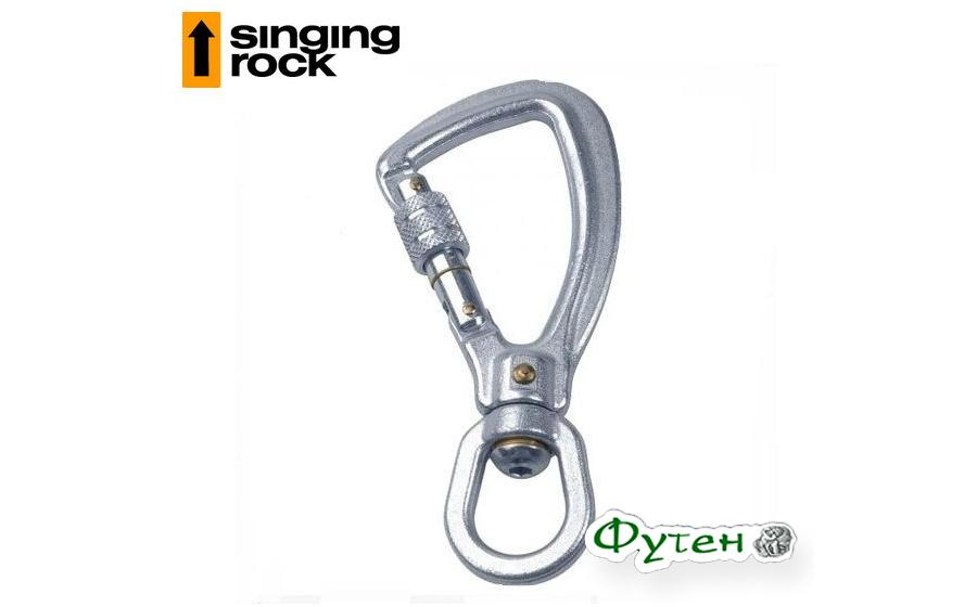 Карабин с вертлюгом Singing Rock Twister Hook