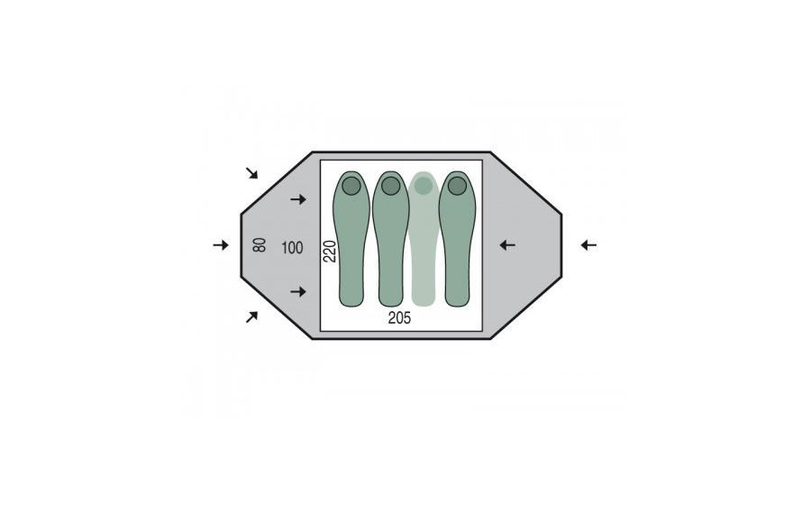 Размеры палатки Pinguin TORNADO 3 fg