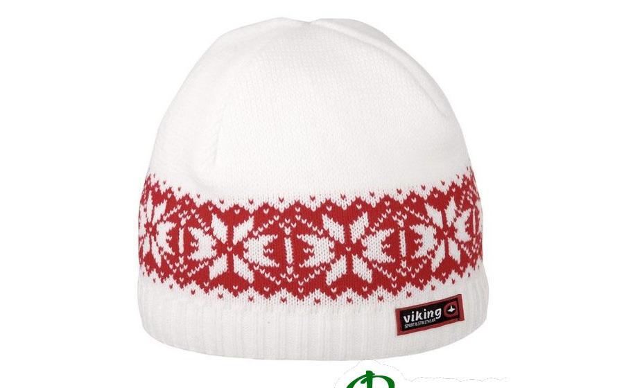 шапка Viking REGULAR бело-красная