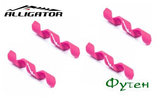Защита рамы Alligator Spiral 4/5 мм розовая