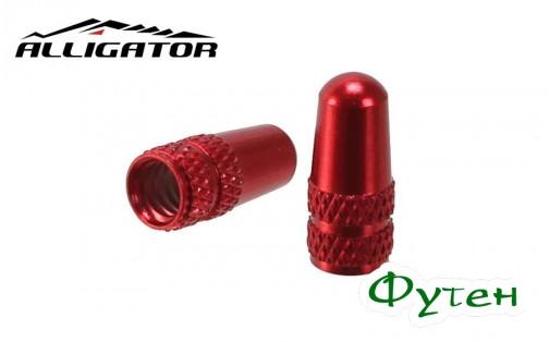 Колпачки Alligator PRESTA VALVE CAP красные