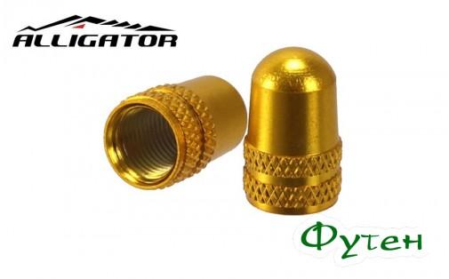 Колпачки Alligator SCHRADER золотые