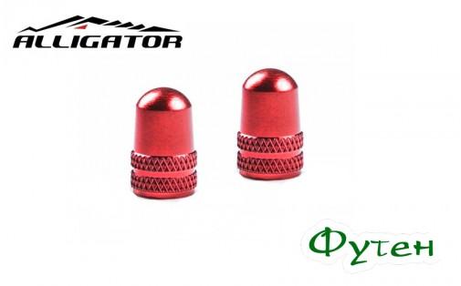 Колпачки красные Alligator SCHRADER VALVE CAP