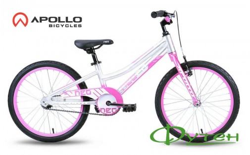 Велосипед Apollo 20 NEO GIRLS розовый/белый