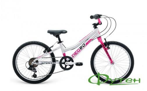 Велосипед детский Apollo NEO 6s girls розовый/черный
