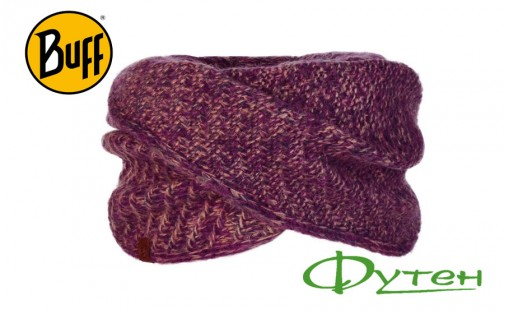 Шарф Buff KNITTED WRAP AGNA violet