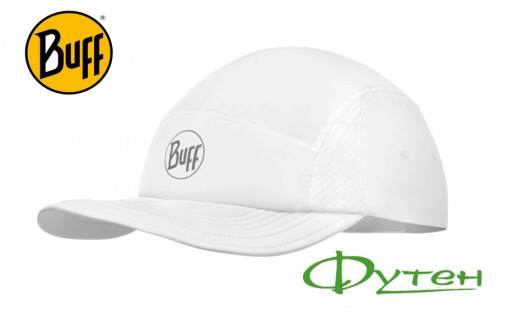 Кепка Buff RUN CAP SOLID r-white