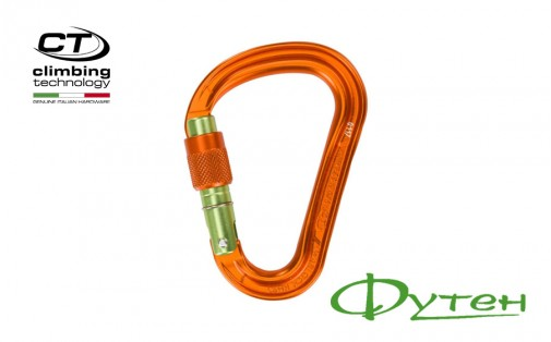 Карабин Climbing Technology WARLOCK HMS SG orange/green gate