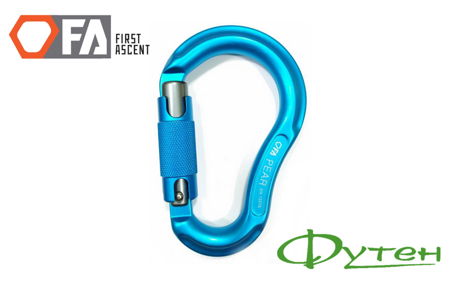 Карабин First Ascent PEAR 24 kN blue