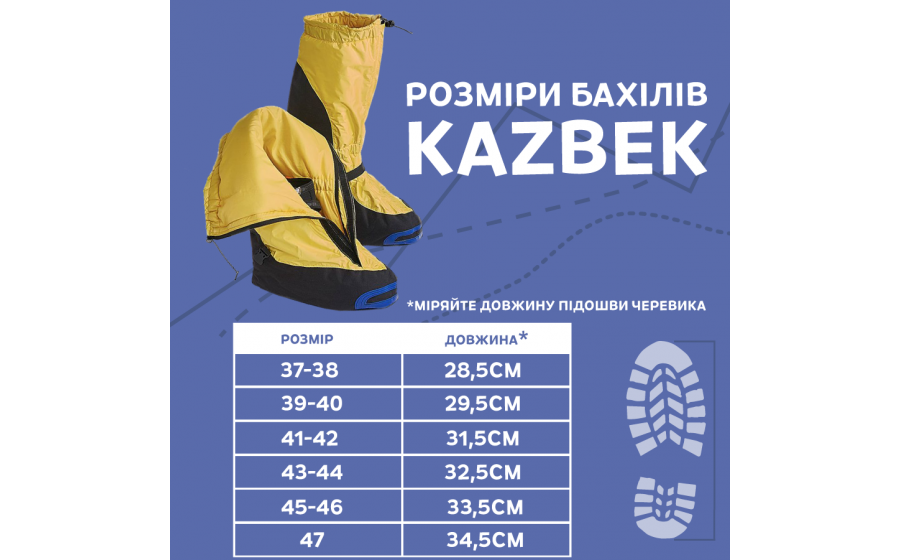 Бахилы Fram Equipment KAZBEK ZIP