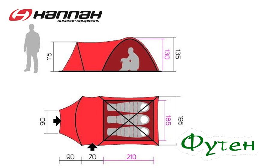 Палатка HANNAH ARRANT 3 размеры
